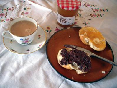 breakfast tasse decke oma