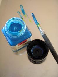 pinselfarbe blau