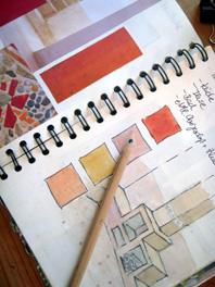 architect skizze beige